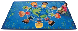 "Give the Planet a Hug Rug Factory Second - Rectangle - 3'10"" x 5'5"" - CFKFS4413 - Carpets for Kids"