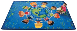 "Give the Planet a Hug Rug Factory Second - Rectangle - 7'8"" x 10'10"" - CFKFS4417 - Carpets for Kids"