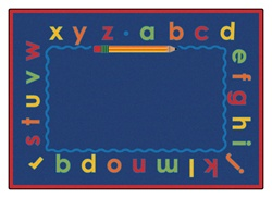 "Lowercase Alpha Rug Factory Second - Rectangle - 5'5"" x 7'8"" - CFK5615 - Carpets for Kids"