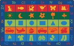 "Symbol Sets Seating Rug Factory Second - Rectangle - 8'4"" x 13'4"" - CFKFS5834 - Carpets for Kids"