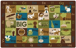 "Rhyme Time Rug Factory Second - Nature - Rectangle - 7'6"" x 12' - CFKFS59762 - Carpets for Kids"