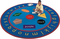Paint-A-Round Rug Factory Second - Round - 9' - CFKFS6909 - Carpets for Kids