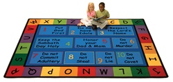 "God's Do's & Don'ts Rug Factory Second - Rectangle - 5'5"" x 7'8"" - CFKFS79015 - Carpets for Kids"