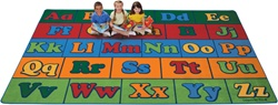 "Offset Seating Literacy Rug Factory Second - Rectangle - 8'4"" x 13'4"" - CFKFS7934 - Carpets for Kids"