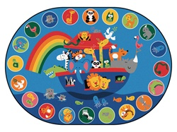 "Noah's Voyage Circletime Rug Factory Second - Oval - 6'9"" x 9'5"" - CFKFS80006 - Carpets for Kids"