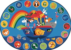 "Noah's Voyage Circletime Rug Factory Second - Oval - 8'3"" x 11'8"" - CFKFS80008 - Carpets for Kids"