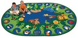 "Circletime Garden of Eden Rug Factory Second - Oval - 6'9"" x 9'5"" - CFKFS82006 - Carpets for Kids"