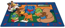 "Reading Buddies Rug Factory Second - Rectangle - 8'4"" x 11'8"" - CFKFS8812 - Carpets for Kids"