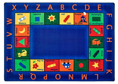 "Bilingual Circletime Rug Factory Second - Rectangle - 8'4"" x 11'8"" - CFKFS9512 - Carpets for Kids"
