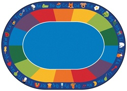 "Fun with Phonics Rug Factory Second - Oval - 8'3"" x 11'8"" - CFKFS9616 - Carpets for Kids"