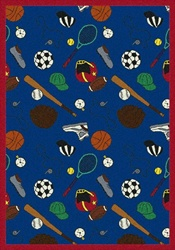 "Multi-Sport Wall-to-Wall Carpet - Blue - 13'6"" - JC1417W03 - Joy Carpets"