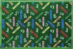 "Crayons Rug - Green - Rectangle - 3'10"" x 5'4"" - JC1418B02 - Joy Carpets"