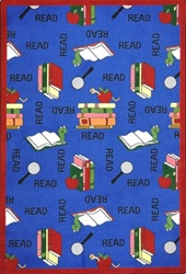 "Bookworm Wall-to-Wall Carpet - Blue - 13'6"" - JC1419W01 - Joy Carpets"
