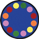 "Lots of Dots Rug - Round - 7'7"" - JC1430E - Joy Carpets"
