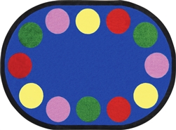 Lots of Dots Classroom Rug Border - JC1430X - Joy Carpets