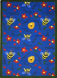 "Bee Attitudes Rug - Red - Rectangle - 5'4"" x 7'8"" - JC1451C02 - Joy Carpets"