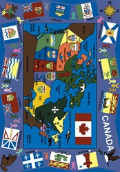 "Flags of Canada Rug - Rectangle - 5'4"" x 7'8"" - JC1455C - Joy Carpets"