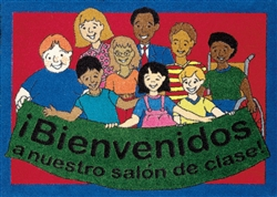 "Welcome To Our Classroom Rug Spanish - Rectangle - 23"" x 32"" - JC1460VIP02 - Joy Carpets"