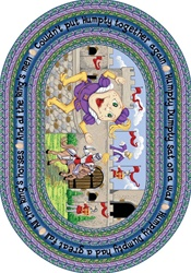"Humpty Dumpty Rug - Oval - 7'8"" x 10'9"" - JC1476DD - Joy Carpets"