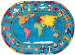 "Hands Around the World Rug - Oval - 5'4"" x 7'8"" - JC1488CC - Joy Carpets"