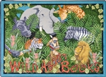 "Wild About Books Rug - Square - 7'7"" x 7'7"" - JC1494F - Joy Carpets"