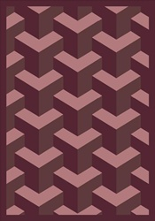 "Rooftop Rug - Plum - Rectangle - 3'10"" x 5'4"" - JC1505B05 - Joy Carpets"
