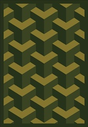 "Rooftop Rug - Olive - Rectangle - 7'8"" x 10'9"" - JC1505D01 - Joy Carpets"