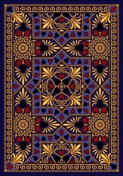 "Jackpot Rug - Navy - Rectangle - 7'8"" x 10'9"" - JC1507D02 - Joy Carpets"