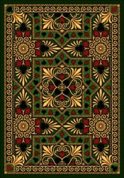 "Jackpot Rug - Emerald - Rectangle - 5'4"" x 7'8"" - JC1507C03 - Joy Carpets"