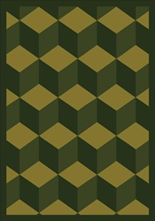 "Highrise Rug - Olive - Rectangle - 7'8"" x 10'9"" - JC1508D01 - Joy Carpets"