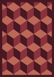 "Highrise Wall-to-Wall Carpet - Burgundy - 13'6"" - JC1508W06 - Joy Carpets"