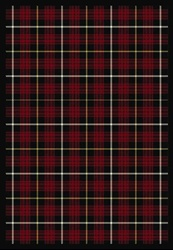 "Bit O Scotch Rug - Lumberjack Red - Rectangle - 3'10"" x 5'4"" - JC1511B01 - Joy Carpets"