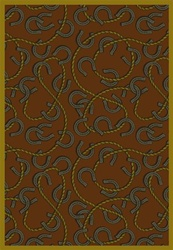 "Rodeo Rug - Rust - Rectangle - 3'10"" x 5'4"" - JC1512B01 - Joy Carpets"