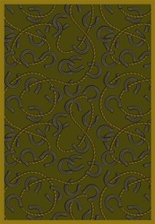 "Rodeo Rug - Olive - Rectangle - 3'10"" x 5'4"" - JC1512B05 - Joy Carpets"