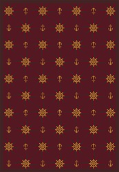 "Mariners Tale Rug - Wine - Rectangle - 3'10"" x 5'4"" - JC1515B02 - Joy Carpets"