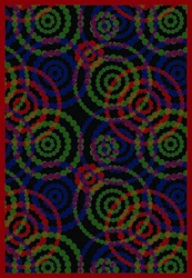 "Dottie Rug - Ruby - Rectangle - 5'4"" x 7'8"" - JC1517C01 - Joy Carpets"