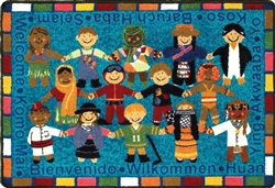 Welcome in Many Languages Rug - JC1517XXX - Joy Carpets