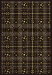"Saint Andrews Rug - Dark Brown - Rectangle - 3'10"" x 5'4"" - JC1524B04 - Joy Carpets"