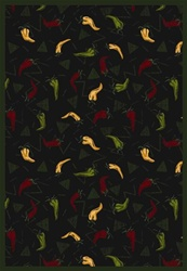 "Jalapeno Fiesta Rug - Onyx - Rectangle - 3'10"" x 5'4"" - JC1525B04 - Joy Carpets"