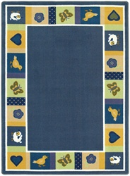 "Baby Blues Rug - Soft - Oval - 3'10"" x 5'4"" - JC1537BB02 - Joy Carpets"