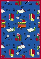 "Bookworm Rug Spanish - Blue - Rectangle - 5'4"" x 7'8"" - JC1564C01 - Joy Carpets"