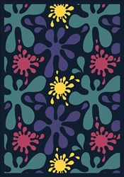 "Splat Wall-to-Wall Carpet - Navy - 13'6"" - JC1572W01 - Joy Carpets"