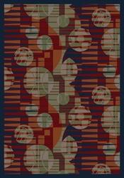 "Keeping Score Rug - Red - Rectangle - 7'8"" x 10'9"" - JC1584D01 - Joy Carpets"