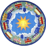 "In Training Rug - Round - 5'4"" - JC1589H - Joy Carpets"