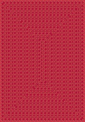 "Legacy Faux Braided Rug - Red - Rectangle - 3'10"" x 5'4"" - JC1631B02 - Joy Carpets"