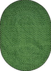 "Legacy Faux Braided Rug - Green - Oval - 3'10"" x 5'4"" - JC1631BB03 - Joy Carpets"
