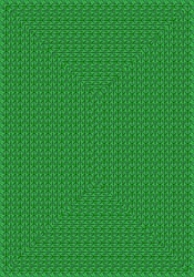 "Legacy Faux Braided Rug - Green - Rectangle - 5'4"" x 7'8"" - JC1631C03 - Joy Carpets"