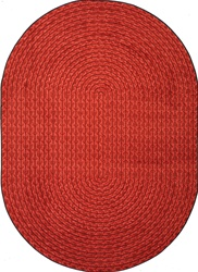 "Legacy Faux Braided Rug - Red - Oval - 7'8"" x 10'9"" - JC1631DD02 - Joy Carpets"