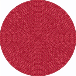 "Legacy Faux Braided Rug - Red - Round - 7'7"" - JC1631E02 - Joy Carpets"