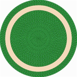 "Sharing Circle Faux Braided Rug - Green - Round - 7'7"" - JC1632E03 - Joy Carpets"